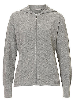 Buy Betty & Co. Textured Hooded Cardigan, Silver Melange, 10 Online at johnlewis.com