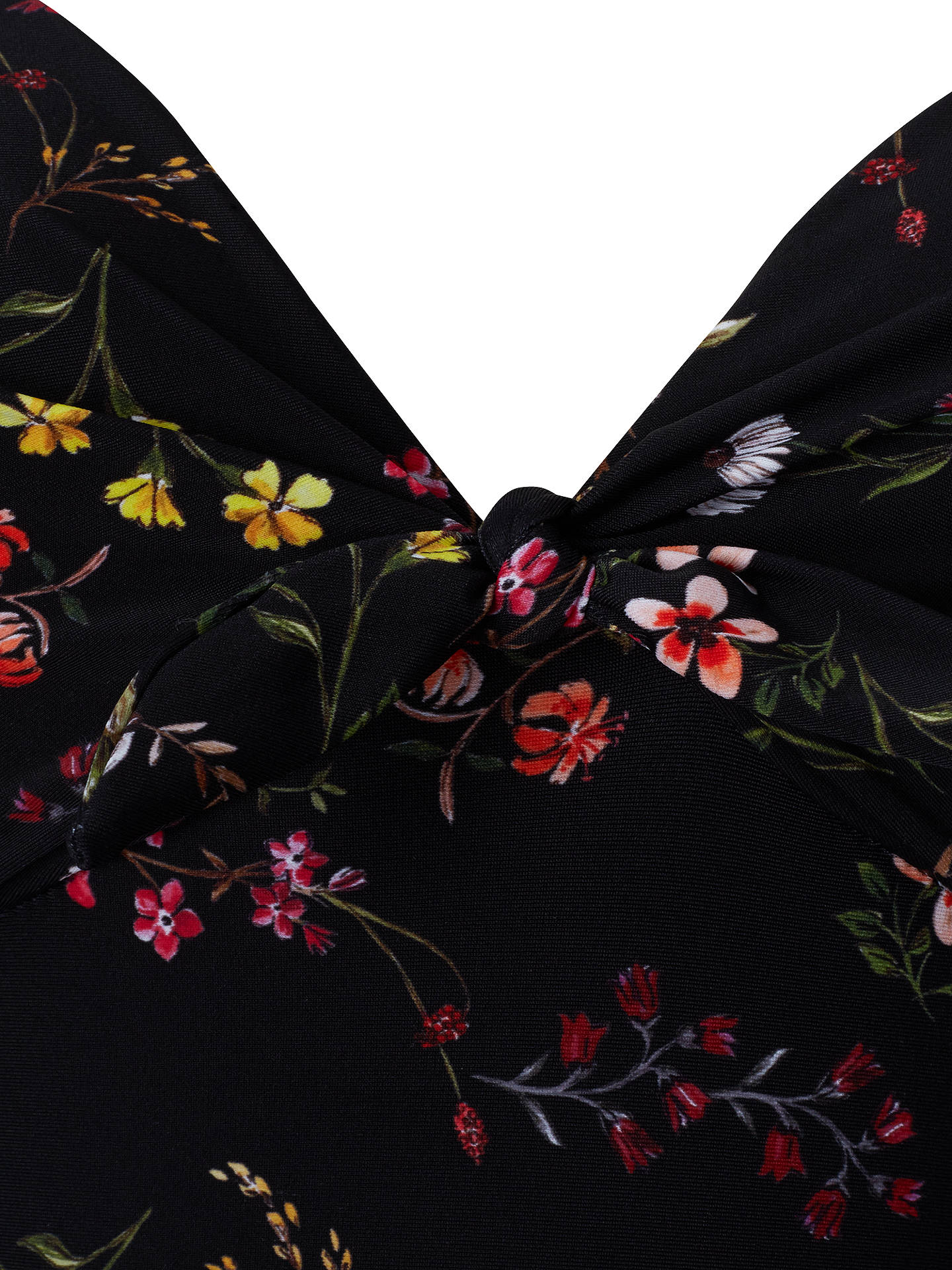 BuyPhase Eight Ditsy Floral Print Swimsuit, Black/Multi, 8 Online at johnlewis.com