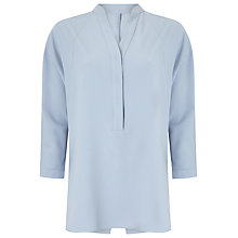 Buy Phase Eight Ida Split Back Blouse, Pale Blue Online at johnlewis.com