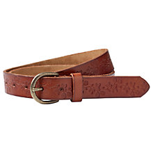 Buy Fat Face Floral Embossed Belt, Tan Online at johnlewis.com