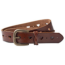 Buy Fat Face Heart Cut Out Belt, Tan Online at johnlewis.com