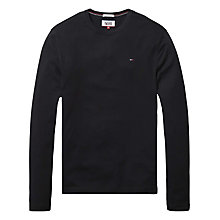 Buy Hilfiger Denim Organic Cotton Long Sleeve T-Shirt, Tommy Black Online at johnlewis.com