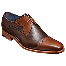 Buy Barker Apollo Derby Leather Brogues, Brown Online at johnlewis.com