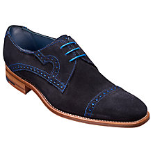 Buy Barker Apollo Derby Suede Brogues, Navy Online at johnlewis.com