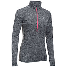 Buy Under Armour Tech Twist Half Zip Long Sleeve Top, Black Online at johnlewis.com