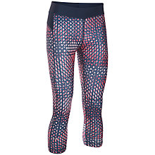 Buy Under Armour HeatGear Printed Capris, Navy Online at johnlewis.com