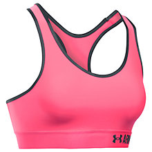 Buy Under Armour Mid Solid Sports Bra, Pink Online at johnlewis.com