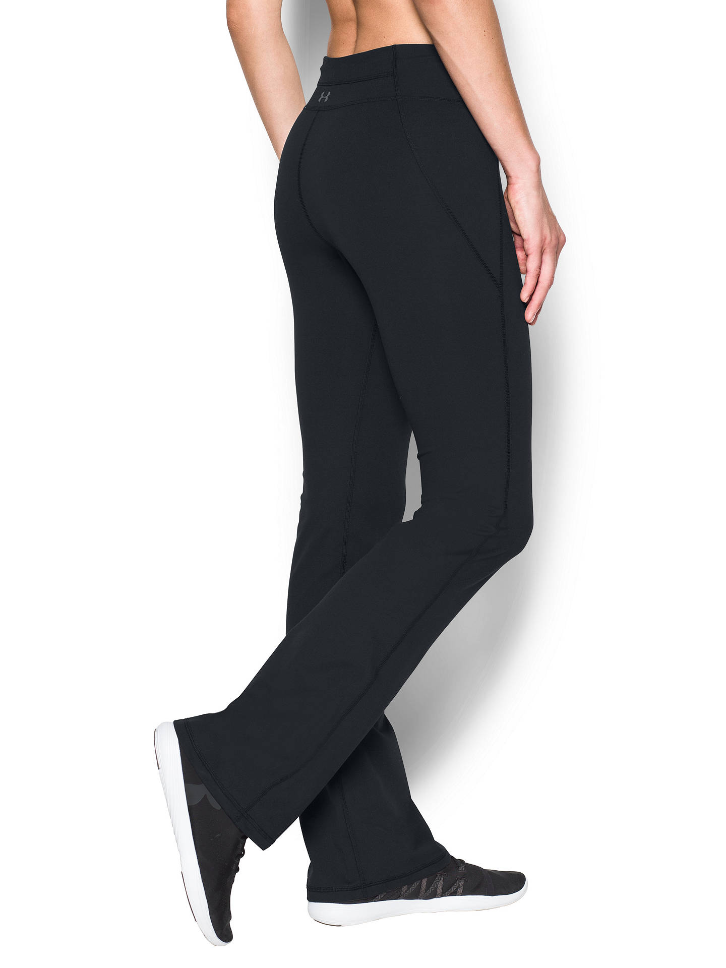 252763872ca56 Buy Under Armour Mirror Boot Cut Training Trousers, Black, XS Online at  johnlewis.