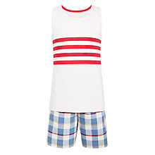 Buy John Lewis Children's Vest and Check Short Pyjamas, Multi Online at johnlewis.com