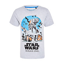 Buy Star Wars Boys' Rogue One Plane T-Shirt, Grey Marl Online at johnlewis.com