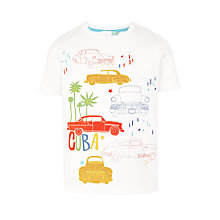 Buy John Lewis Boys' Cuba Vintage Car T-Shirt, White Online at johnlewis.com