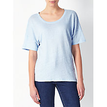Buy Collection WEEKEND by John Lewis Tie Back Linen Top, Pale Blue Online at johnlewis.com