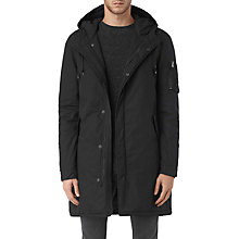 Buy AllSaints Leyden Parka Coat, Black Online at johnlewis.com