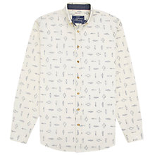 Buy Joules Invitation Fish Print Slim Shirt, Cream Online at johnlewis.com