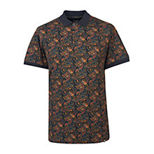 Buy Pretty Green Gretton Paisley Polo Top, Grey/Navy/Yellow Online at johnlewis.com