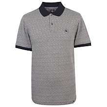 Buy Pretty Green Belmont Short Sleeve Polo Top, Black Online at johnlewis.com