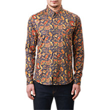 Buy Pretty Green Cavell Liberty Print Shirt, Mid Grey Online at johnlewis.com
