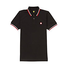 Buy Pretty Green Tipped Pique Slim Polo Shirt, Black Online at johnlewis.com