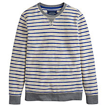 Buy Joules Brancaster Stripe Sweatshirt, French Blue Online at johnlewis.com
