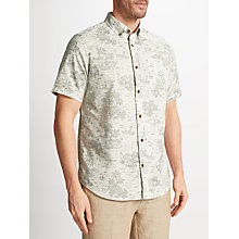 Buy John Lewis Hawaiian Print Short Sleeve Shirt, Ecru Online at johnlewis.com