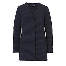 Buy Betty & Co. Ribbed Cardigan Coat, Dark Sapphire Online at johnlewis.com