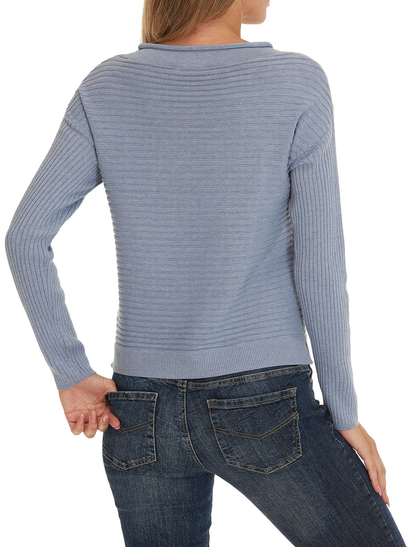 Buy Betty & Co. Raised Rib Jumper, Smoky Blue, 10 Online at johnlewis.com