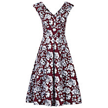 Buy Jolie Moi Floral Print Sweetheart Neckline Dress, Burgundy Online at johnlewis.com