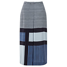 Buy Jigsaw Block Stripe Wrap Skirt, Glacier Blue Online at johnlewis.com