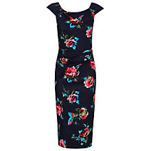 Buy Jolie Moi Floral Print Wiggle Dress, Navy Online at johnlewis.com