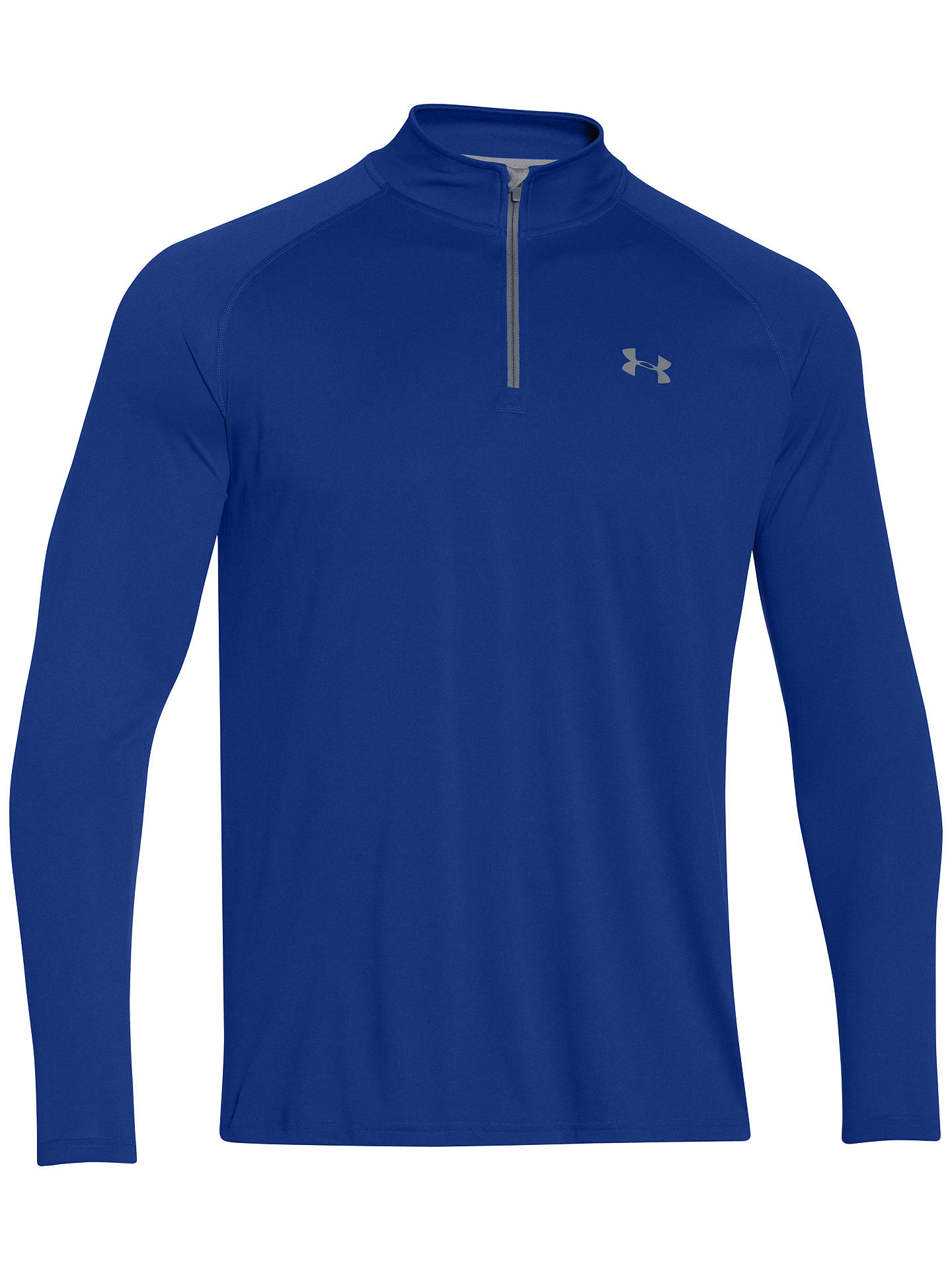 12c506c19 Under Armour Tech 1/4 Zip Long Sleeve Top, Royal Blue at John Lewis ...