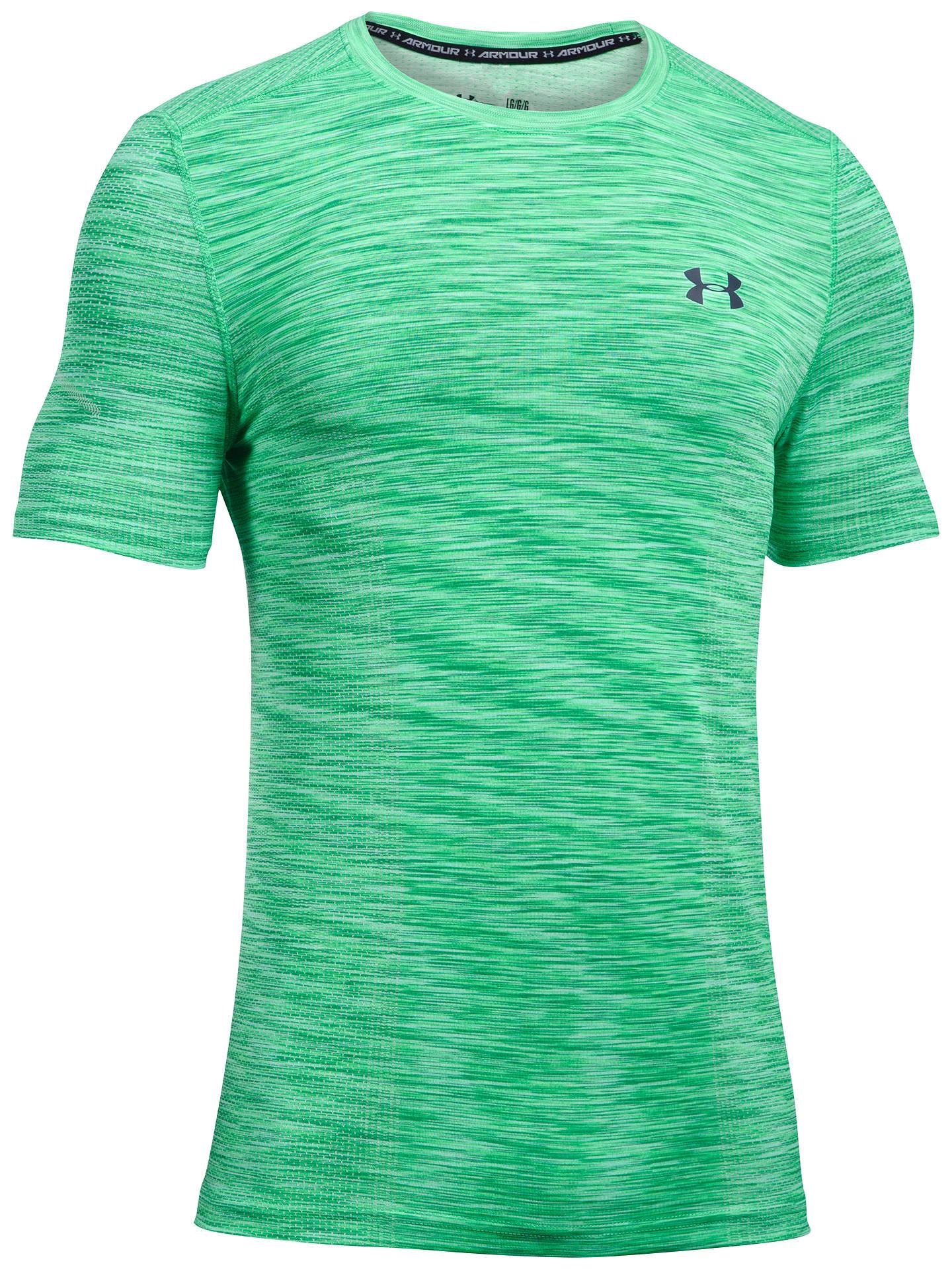 9202425a6 Buy Under Armour Threadborne Seamless T-Shirt, Green, S Online at johnlewis.