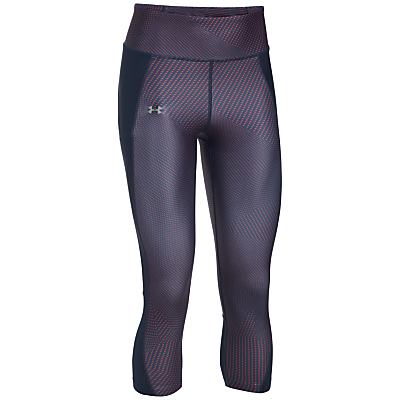 Under Armour Fly By Printed Capris, Purple