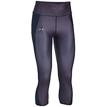 Buy Under Armour Fly By Printed Capris, Purple Online at johnlewis.com