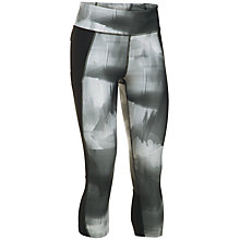 Buy Under Armour Fly By Printed Capris, Grey Online at johnlewis.com