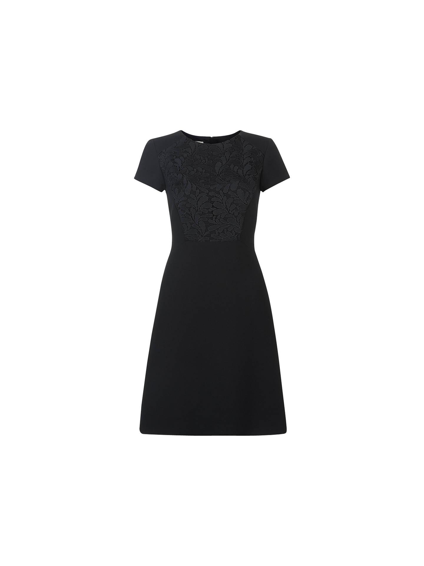 d76917c9d Buy Hobbs Cecily Dress, Black, 6 Online at johnlewis.com ...