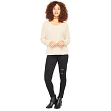 Buy Miss Selfridge Lattice Back Jumper Online at johnlewis.com