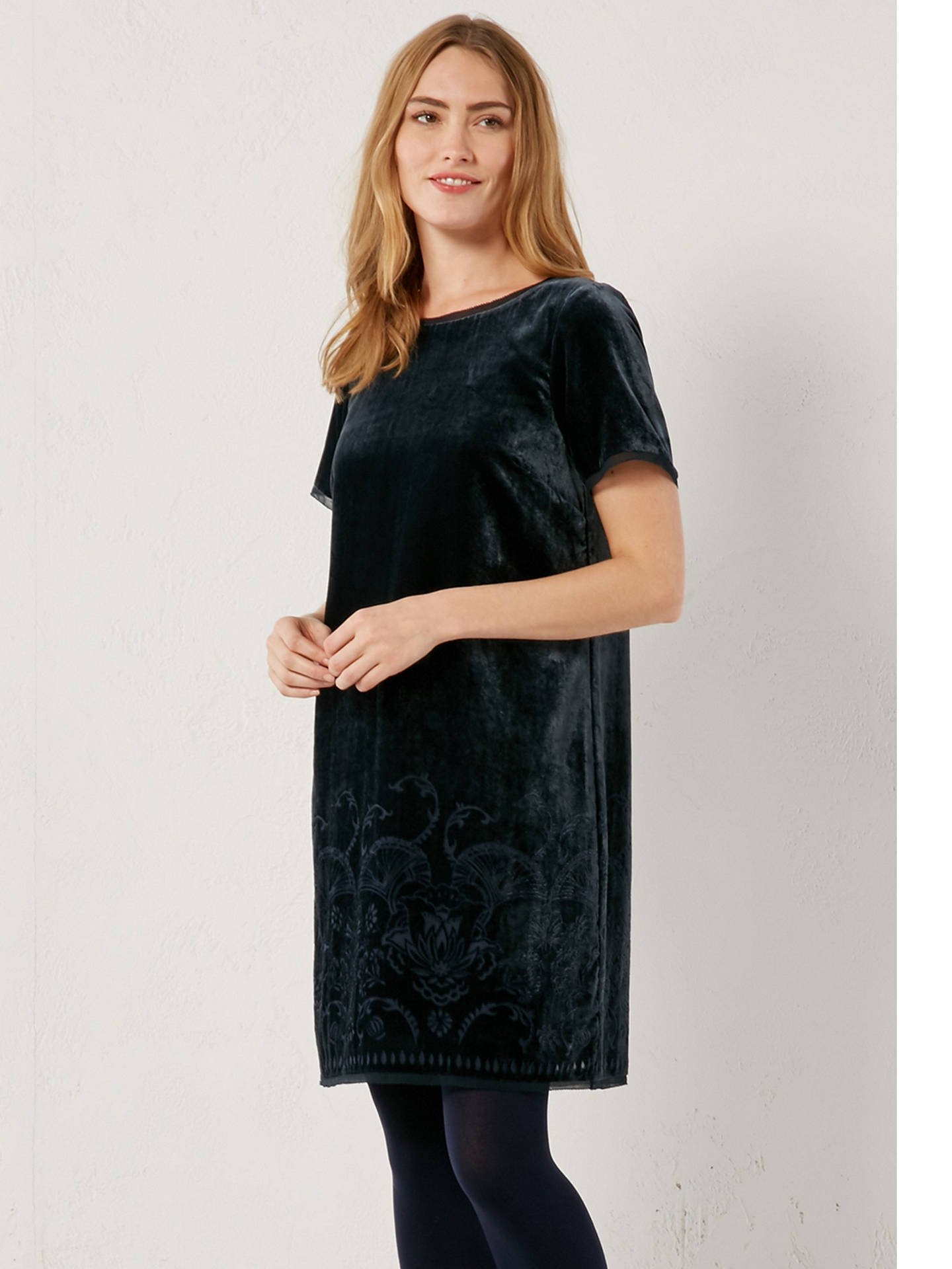 9d3a6fbf7d76 ... Buy White Stuff Harper Velvet Dress, Eccentric Blue, 6 Online at  johnlewis.com ...