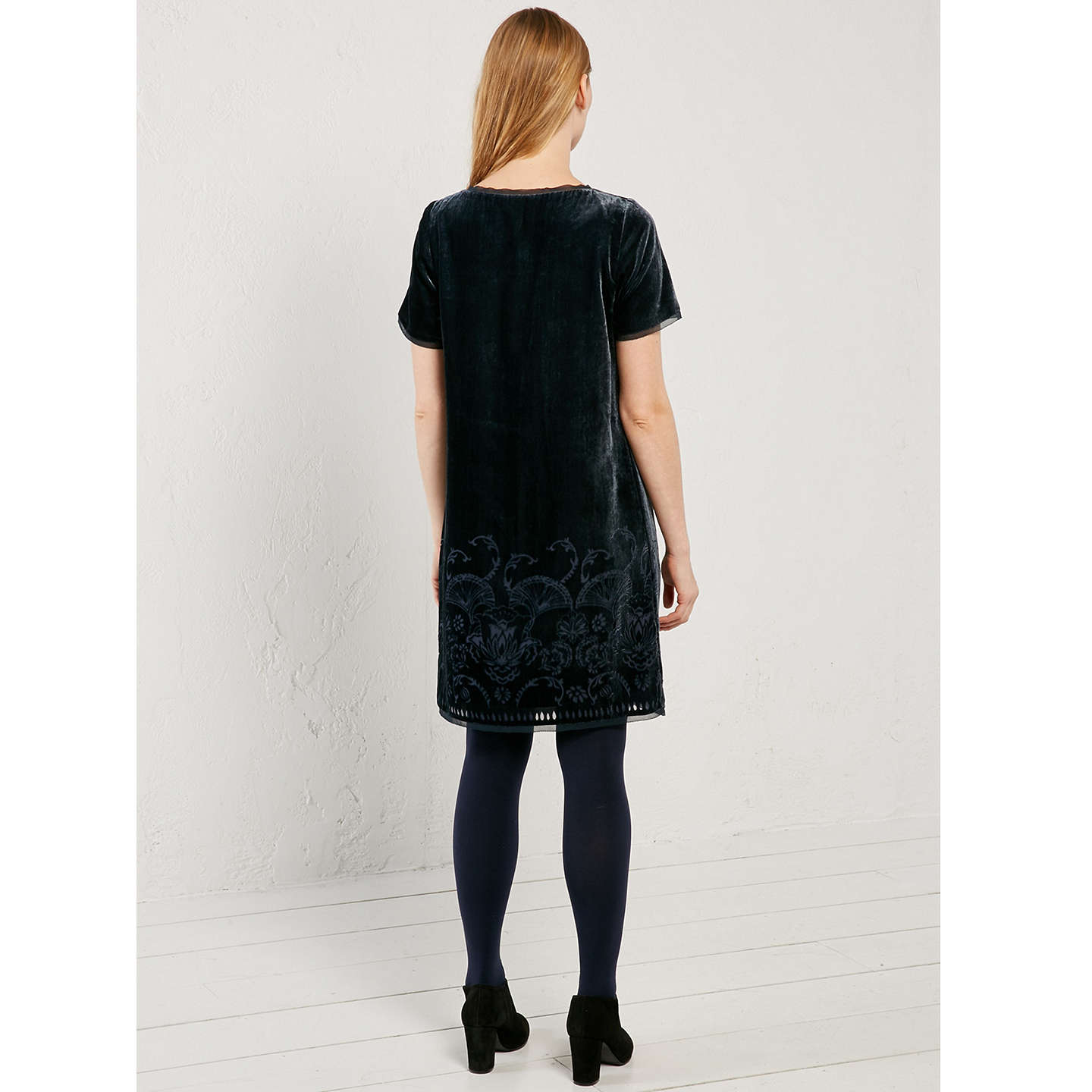 ba2acffa7cdd ... BuyWhite Stuff Harper Velvet Dress, Eccentric Blue, 6 Online at  johnlewis.com ...