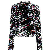 Buy L.K. Bennett Vetti Tweed Jacket, Multi/Black Online at johnlewis.com