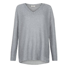 Buy Hobbs Constellation Jumper, Soft Grey Online at johnlewis.com