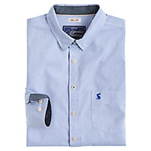 Buy Joules Lyndhurst Fine Stripe Shirt, Bold Blue Online at johnlewis.com