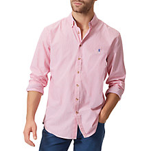 Buy Joules Talbert Stripe Classic Fit Shirt, Pink Online at johnlewis.com