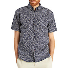 Buy Joules Lloyd Mushroom Print Short Sleeve Shirt, Navy Online at johnlewis.com
