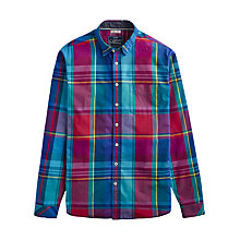 Buy Joules Lyndhurst Multi Check Shirt, Red/Blue Online at johnlewis.com