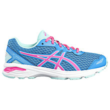 Buy Asics Children's GT-1000 5 GS Laced Trainers, Blue/Pink Online at johnlewis.com