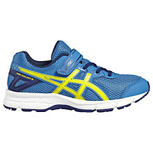 Buy Asics Children's Pre-Galaxy 9 PS Riptape Laced Trainers, Blue/Multi Online at johnlewis.com