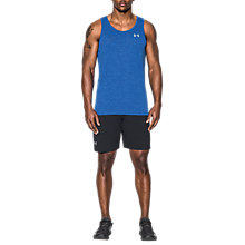 Buy Under Armour Threadborne Streaker Run Singlet, Blue Online at johnlewis.com