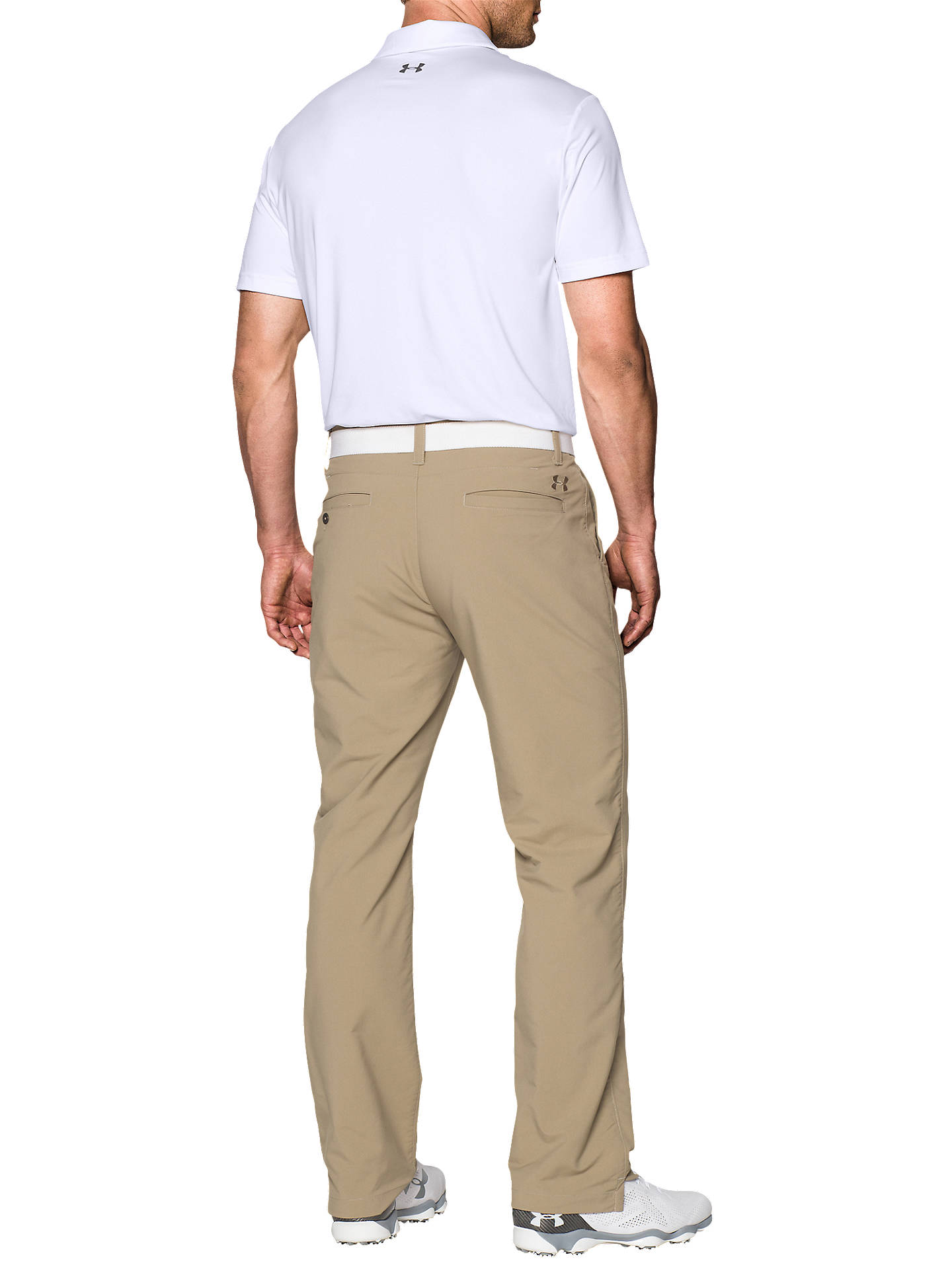 BuyUnder Armour Playoff Golf Polo Shirt, White, S Online at johnlewis.com