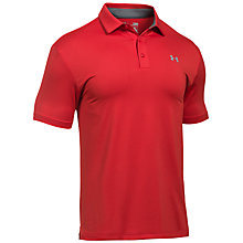 Buy Under Armour Playoff Golf Polo Shirt, Red Online at johnlewis.com