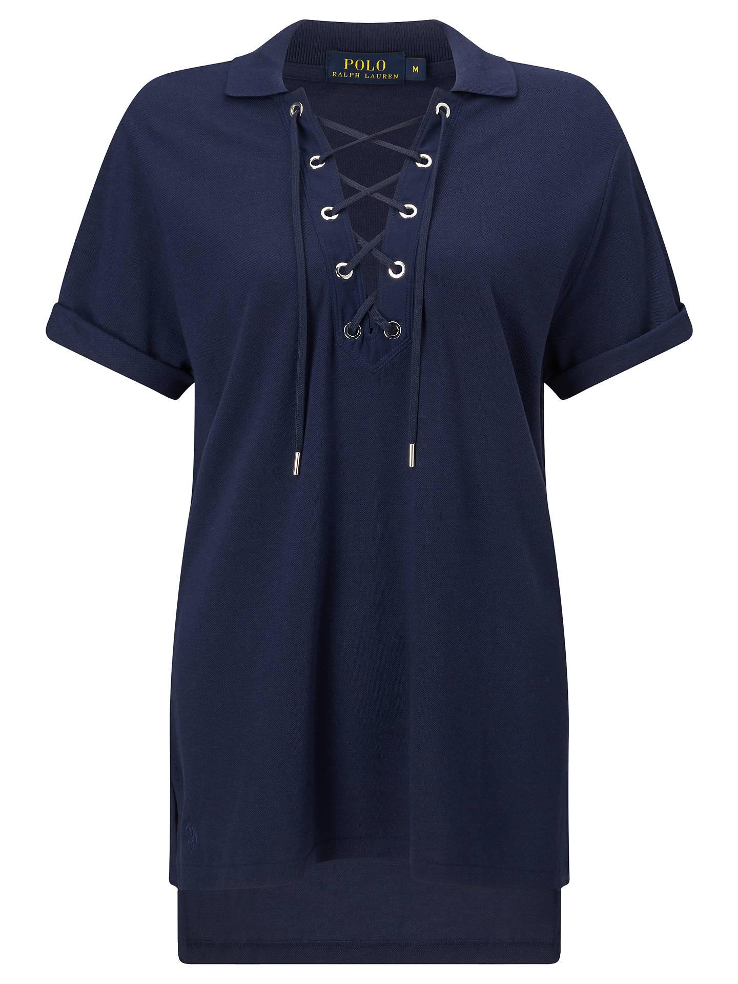 BuyPolo Ralph Lauren Lace-Up Mesh Boyfriend Polo Shirt aef8a42f94c